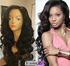 loose deep wavy Brizilian remy human hair full lace wigs 6 colors 130% density