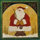 "HILL284 Santa Joy Lisa Hilliker 12""x12"" framed or unframed country print Christm"