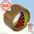 6 Rolls| 3M™ Scotch® Box Sealing Parcel Packing 371 Tape | 48mm x 66m Buff Brown