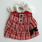 1011 XS~L Cowl Neck Checked Sun Dress / Skirt / Dog Clothes