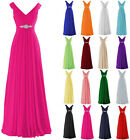 New Formal Chiffon Evening Ball Gown Party Prom Bridesmaid Dresses Size 6-22