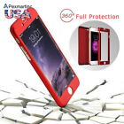3in1 Front+Back Case Cover +Tempered Glass Screen Protector for iPhone 6 6s Plus