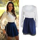 Fashion Womens Summer Casual Long Sleeve Evening Party Cocktail Short Mini Dress