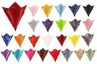 Classic Mens Italian Square Satin Wedding Prom  Event Party Pocket Handkerchief