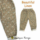 Girls beautiful Linen Vintage Style Florals Printed Trouser (2-7 Years)