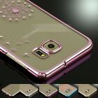 Cute Luxury Crystal Clear Hard Back Case Diamond Cover For Samsung Galaxy Models