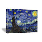 van gogh starry night original - Canvas Wall Art Print Starry Night Van Gogh Painting Reproduction Poster Picture