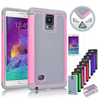 Shockproof Hybrid Rugged Rubber Matte Hard Case Cover for Samsung Galaxy Note 4