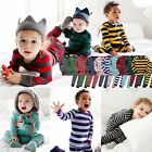 "Vaenait Baby Toddler Kids Boys Girls Clothes Thick Pajama Set ""Stripe set"" 12-7T"