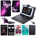 "For Lenovo Tab Tab2 Tab3 7"" 8"" 10.1"" Tablet PU Leather Case Cover with Keyboard"