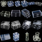 Cosmetic Organizer Clear Acrylic Makeup Drawers Holder Case Box Jewelry Storage