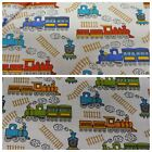Childrens Trains Polycotton