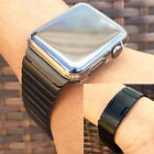 Hot New Black For Apple Watch iwatch Link Bracelet Strap Band Stainless Steel