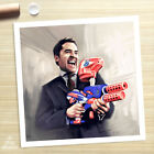 ARI GOLD Entourage Paint Gun poster painting CANVAS GICLEE PRINT (Rolled)