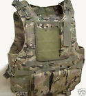 Molle Tactical Vest for Army Airsoft Military Combat Assault w/ Steel Wire Rope