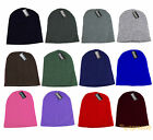 Plain Beanie Skull Cap Knitted Ski Hat Skully Warm Winter Solid Colors Headgear