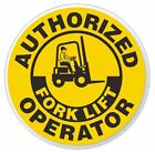 Authorized Forklift Operator Hard Hat Decal Hard Hat Stic...