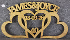 Wooden Entwined hearts/Custom made wedding/anniversary gift/2 names personalised