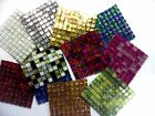 GLITTER  MOSAIC TILES 10mm mini 81 tiles. choice of 15 colours  *FREE DELIVERY*
