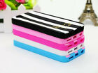 Cute Fashion Pattern Colored Stripe Silicone Case Cover for iPhone 6S 6 plus 5S