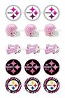 """PITTSBURGH STEELERS PINK  1 """" CIRCLES BOTTLECAP IMAGES. $2.45-$5.50  FREE SHIP $5.5 USD on eBay"""