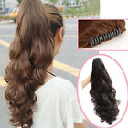 New Fashion Long Wavy Curly Ponytail Hairpiece Hair Extensions Claw Elegant