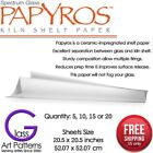 "Papyros Kiln Shelf Paper 20 1/2"" Square in 5, 10, 15 Fused Glass Supplies"