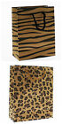 ANIMAL PRINT FASHION PAPER CARRIER BAGS ZEBRA LEOPARD PATTERN SHOPPING BAG