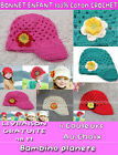 GIRL 100% cotton BERET WOOLY HAT crochet hand-made *9month to 3 year-olds*