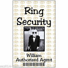 ID Card for Wedding Ring Security. Childs ID Badge with Free Clip.