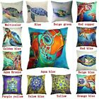 Cotton Linen Cute Sea Turtle Pillow Case Sofa Cushion Cover Home Decor 18 Inches