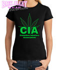 Cannibas Best Deals - CIA - Cannibas Inhalers Association T SHIRT Ladies JUNIORS ~ WEED ~ Smoking Dope