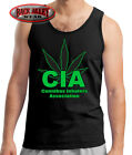 Cannibas Best Deals - CIA ~ Cannibas Inhalers Assoc. Tank Shirt Beater ~ FUNNY ~ WEED SMOKING POT DOPE