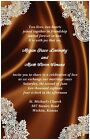 30 50 80 100 Romantic LACE & Chocolate Brown SATIN 6x9 WEDDING Invitation Custom