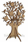 MDF Our Family Free Standing OWL Tree Shape Memory Tree Craft, Family Tree