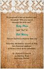 30 50 80 100 Rustic COUNTRY Burlap & Lace 6x9 WEDDING Invitation Custom