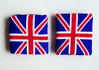 Pair WRISTBANDS SWEATBANDS UNION JACK UK sports fitness tennis squash brand new