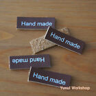 5pcs OR 20pcs Synthetic PU Leather Rectangle Labels Hand made Brown Craft DIY