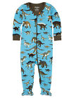 hatley footed coverall one piece onesie WILD DINOS