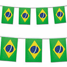 Brazil Flag Bunting Rio Football Olympics Banner 25 Flags 7m / 22ft