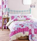 Catherine Lansfield Gypsy Patchwork Pink Floral Reversible Bedding