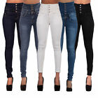 Ladies Sexy Womens High Waisted Jeans Skinny Leg Stretch Jegging Plus Size 8-18
