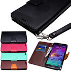 For Samsung Galaxy Note 4 5 Luxury Leather Wallet Magnetic Flip Case Cover