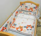 3 Piece Nursery Cot Baby Bedding Set with Long All Round Padded Cot Bed Bumper <br/> Bumper set is suitable for cot 120x60 or cot bed 140x70