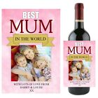 Personalised Best Mum Wine Champagne Bottle Label N81 - Mothers Day Gift Idea