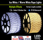 LED Crystal White/Warm White Rope Tube Light Dimmable Static/Multi-effects IP65