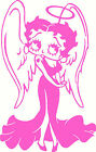 Betty Boop Angel Decal, Vinyl Car Sticker, Window Graphic, Mirror Sticker £2.99 GBP on eBay