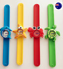 1PC Children Kids Girls Boy Sea world animal shape Slap On Snap Wrist Watch Gift