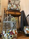 NEW Handmade Bold Floral Fabric Bird Cage Skirt Seed Catcher Guard Cover XS-XXL