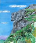 Old Man of the Mountain Art Print White Cannon Stone Franconia NH Profile Gift